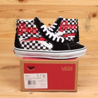 Sepatu Vans x David Bowie SK8 HI High Checkerboard Black White BNIB