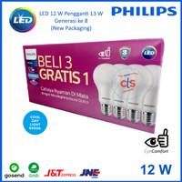 Lampu LED Bulb Philips 13W Paket 3 free 1