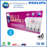 Lampu LED Bulb Philips 10,5W Paket 3 free 1