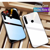 Case Glass Xiaomi Redmi Note 8 Soft Hard Back Cover Tempered Mirror