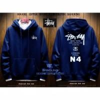 GRADE ORIGINAL - Size L XL XXL XXXL - Jaket Sweater Hoodie STUSSY N4
