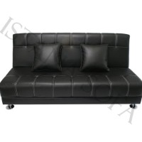 Sofa Bed Black White Stripe