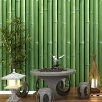 Bamboo green 45 cm x 10 mtr ~ Wallpaper sticker dinding