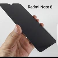 Xiaomi Redmi Note 8 Tempered Glass Spy Anti Gores Kaca Hitam Gelap