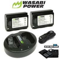 WASABI POWER Battery 2x + Charger for Sony NP-FZ100 A6600 A9 A7III