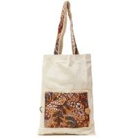 Percanesia Reusable Bag Motif Batik - Putih