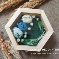 Natural Hexa Wooden Box - Ring Bearer / Kotak Tempat Cincin Rustic