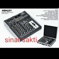 MIXER AUDIO ASHLEY PHONIC4/PHONIC 4 4CH ORIGINAL FREE HARDCASE/KOPER