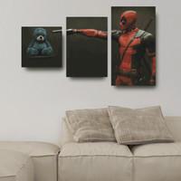 "Deadpool vs Teddy bear"" Poster Kayu (Multipanel)"