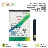 Offon Battery XL GO MV003 For Modem WiFi MiFi Type M2Y ZTE WD670 MV005