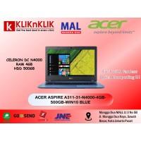 ACER ASPIRE A311-31-N4000-4GB-500GB-WIN10 BLUE