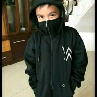 sweater jaket Hoodie ninja Alan walker hitam