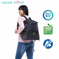 Natural Moms Cooler Bag Max Backpack GRAY / Tas Asi Bayi
