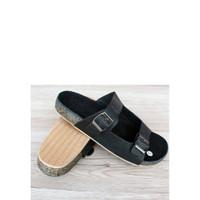 sandal blackmaster casual pria trendy kekinian ngehits model terbaru