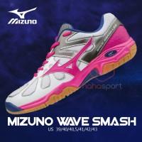 Sepatu Badminton Mizuno WAVE SMASH LO4 PINK