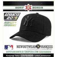 Topi NY Black Special Baseball Import Bordir Sport Wear