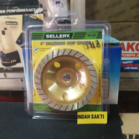 Batu Gosok Diamond Cup Wheel 4 inch Sellery