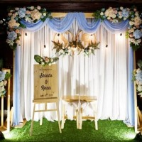 Sewa paket dekorasi backdrop untuk pernikahan/lamaran size 2,2meter