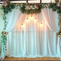 sewa dekorasi backdrop murah untuk lamaran/pernikahan (JAKARTA ONLY)