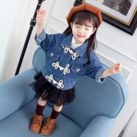 Terbaru Best Quality Jaket Anak Perempuan Korean Fashion Casual Denim