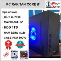 Komputer PC Rakitan Core i7-2600/HD 1TB/H61/DDR3 8GB/PSU 500W [IM13]