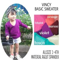 New Sale Termurah Sale Vincy Vbasic Sweater Baby Anak Allsize 1 4Th