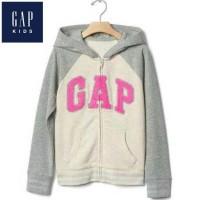 New Sale Gap Grey Pink Logo Hoodie - Jaket Anak Cewek Murah - Jaket