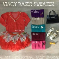 Discount Diskonmurah Sale Vincy Sweater Basic Anak Rajut Jamin100%
