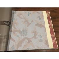 Wallpaper Vinyl Klasik Emboss - Abu-Biru