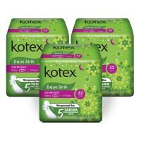 Kotex Daun Sirih Overnight 32 cm 9s 3 Pack