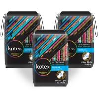 Kotex Ultrathins Wings 12s 3 Pack