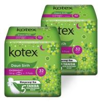Kotex Daun Sirih Overnight 32 cm 9s 2 Pack