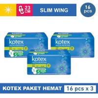 Kotex Healthy Protection Slim Wing 16s 3 Pack