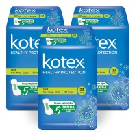 Kotex Healthy Protection Slim Non Wing 20s 3 Pack