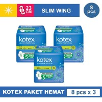 Kotex Healthy Protection Slim Wing 8s 3 Pack