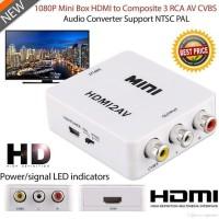 Minibox HDMI To AV RCA / Mini HDMI 2AV Converter Box