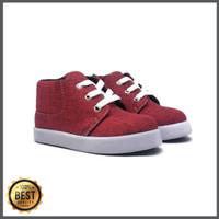 SHUKU Sepatu Anak Semi Boots Marun Trendy Pilihan