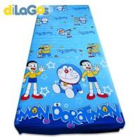 Sprei resleting sarung kasur busa karakter Doraemon
