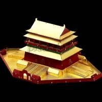 Mainan Puzzle 3D Model Istana Kekaisaran Tiongkok Bahan Metal