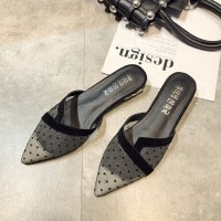 Termurah Sepatu Sandal Casual Motif Print Polkadot Bahan Mesh