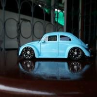 Diecast - Miniatur Mobil Jada VW Bettle - Kodok Biru Skala 24 suku