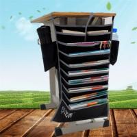 SALE Rak Organizer Gantung Holder Buku / Majalah Warna Hitam untuk