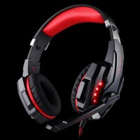Kotion Each G9000 Gaming Headset Twisted LED Light Red