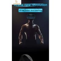 Lucu FIit VR 2F Kacamata Virtual Reality 3D VR Dengan Headset