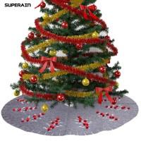 Gratis Ongkir Superain Christmas Tree Skirt Apron Carpet Cover