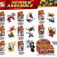 Brick Lego SY1121 1-8 Ironman with Bruce Banner set 8