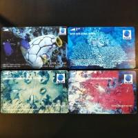 Satu Set Kartu Telepon Koleksi Magnetik Telkom - Laut & Terumbu Kar