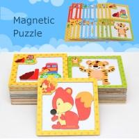 Puzzle Magnetik Gambar Kartun untuk Anak