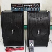 paket sound 1 set ampli ampliifier dan speaker 6 inch Dusenberg 6