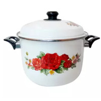 Maspion Panci Stock Pot Enamel 26 cm Motif Bunga / Code : ST-112-126